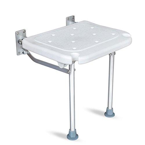 XXHDEE Wand-Decant-kruk douchestoel met klapdeksel badkamer-veiligheid anti-slip badkruk met poten badkamerkruk