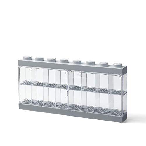 Room Copenhagen Caja expositora para 16 Minifiguras de Lego,  Contenedor apilable para Pared o Escritorio,  Gris,  Grande
