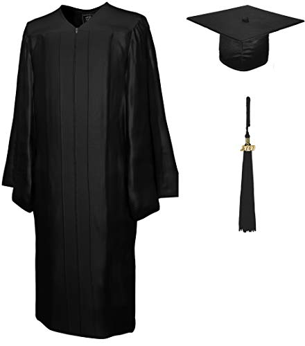 Tocco, toghe laurea, nappa dato Lucidezza, nero, 178-182cm