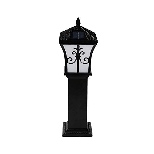 Alle Leampp Paaldoppen op zonne-energie lichten buiten gazon Villa Park palen lantaarn Traditionele Victoriaanse waterdichte High Light Tuin lampen Deco-aluminium metalen zuil straatlantaarn
