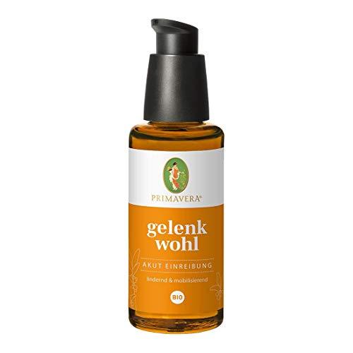 PRIMAVERA Gelenkwohl Akut Einreibung bio 50 ml - Massageöl bei Gelenkschmerzen - Aromatherapie, ätherische Öle - lindernd, mobilisierend - vegan