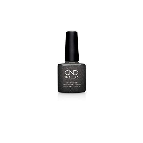 cnd at home gel nail kits CND Shellac Gel Nail Polish, Long-lasting NailPaint Color with Curve-hugging Brush, Black Polish, 0.25 fl oz