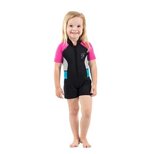 Seavenger Cadet Kids 2mm Shorty Wetsuit (Hot Pink, 3T)