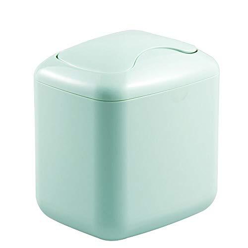 mDesign Cubo de Basura en Color Menta – Material: plástico Resistente – Papelera de diseño – Ideal como Papelera de Oficina, Papelera de baño o Papelera de Cocina