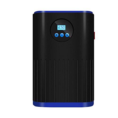 Rendeyuan Bomba de Aire de Emergencia para automóvil Pantalla Digital/de Puntero Carga automática y Parada Bomba de Aire de llanta de plástico para automóvil - Azul