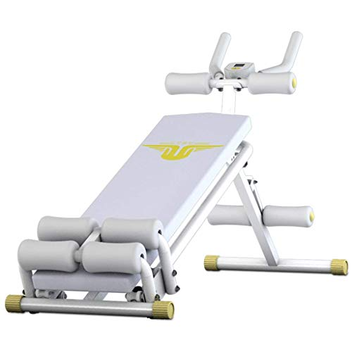 OESFL Dumbbell Bench Fitness Weight Bench Multi-Function Professional Adjustable sit-up Board (Color : White, Size : 1424075cm)