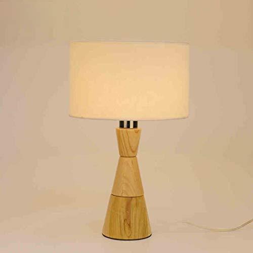BANANAJOY Lámparas de mesa, Sala de personalidad simple nórdico minimalista dormitorio de noche las luces de jardín de sombra decorativo paño de los niños lámpara de cabecera, de madera luz de la noch
