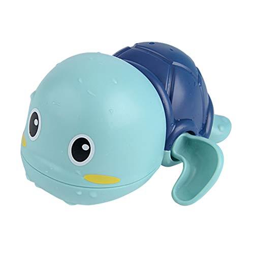 Baby Badespielzeug,Baby Bade Bad Schwimmen schwimmende Badewanne Pool Spielzeug Uhrwerk Schildkröte Schwimmbad Spielzeug für Badewanne Dusche Schwimmbad (Blau)