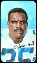 1970 Topps super (Football) Card# 28 Calvin Hill of the Dallas Cowboys NrMt Condition