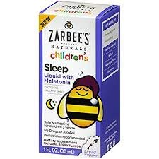 Zarbee's Naturals Children's Sleep Liquid with Melatonin (Pack of 6)
