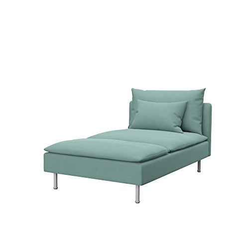 Soferia - IKEA SÖDERHAMN Funda para chaiselongue, Elegance Mint