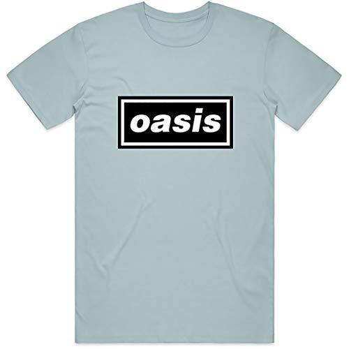 Rock Off Oasis 'Classic Logo' (Blue) T-Shirt (Large)