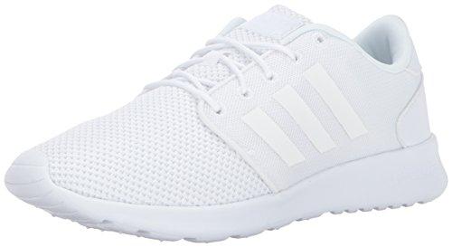 adidas Women's Cloudfoam QT Racer Running Shoe, Triple White, 7.5 M US