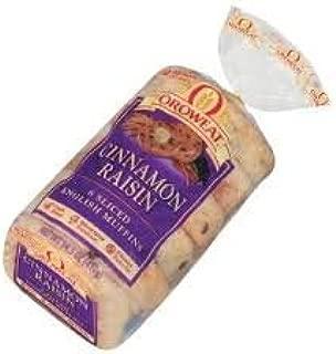 Oroweat English Muffins 6 Count Bag (Pack of 3) (Cinnamon Raisin - Fork Split)