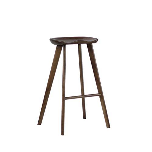 YUTI KANGjz Muebles Sillas Sólido Trona de Madera, clásico Impermeable al Aire Libre de heces Inicio de Comedor del Restaurante heces Librería del sillón con el Pedal Asiento Antideslizante