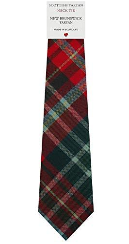 I Luv Ltd Cravate en Laine pour Homme Tissée et Fabriquée en Ecosse à New Brunswick Canadian Tartan