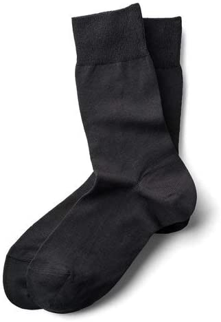 Cotton Dress Socks (Boys Large, Charcoal)