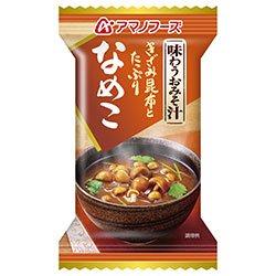 アマノフーズ フリーズドライ 味わうおみそ汁 なめこ 10食×6箱入×(2ケース)