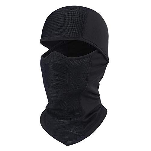 AYPOW Breathable Balaclavas, Radfahren Full Face Mask Cover mit Mesh-Panel, Winddicht Skifahren Balaclava Hood Headwear Helme Liner für Männer und Frauen - Universal Größe