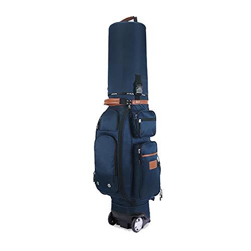 wasserdichte Golf Cart Tasche wasserdichte Golf Carry Bag Multi-Funktions-Golf Bag Erwachsene Golf Zubehör Golf Stand Bag mit Schlepper, Regenschutz, Diebstahlsicherung Code Lock Golf Trolley Bag