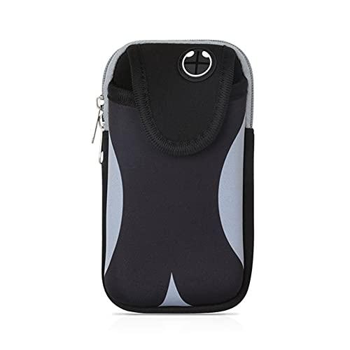 Diaod Bolso Universal del Pulsera del teléfono móvil, con 6,5 Pulgadas Impermeable Deportes de Jogging Ciclismo Gimnasio Gimnasio Brazalete Caja de teléfono móvil (Color : Gray)