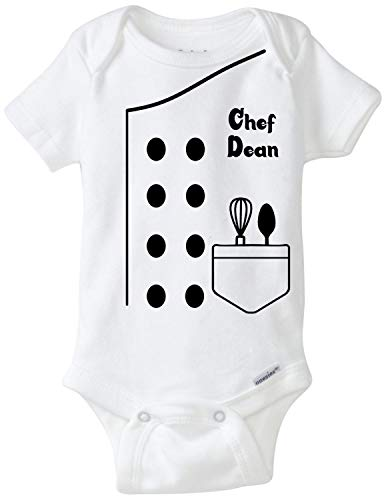Chef Ethan Outfit Future Halloween Onsies with Yellow Shoes Best Baby Gift Idea (3-6 Months Without Shoes)