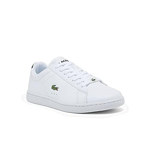Lacoste Scarpe basse da donna Carnaby EVO 0121 2 SFA, scarpe basse da donna, bianco e nero., 38 EU