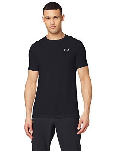 Under Armour UA Seamless SS, camiseta de manga corta para hombre, camiseta para correr hombre, Negro (Black/Mod Gray (001)), XL