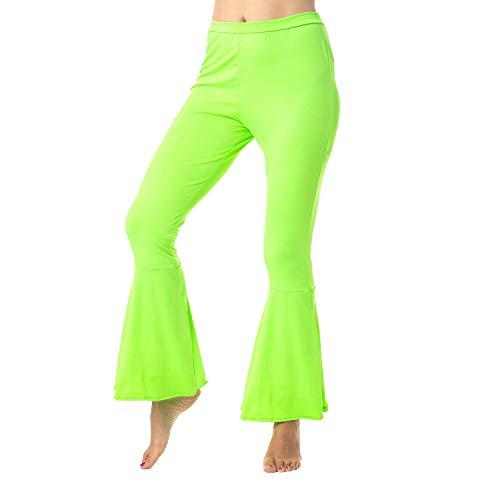 Pantalones acampanados para mujer de los aos 60 aos 70, discoteca, disfraz de sbado por la noche, fiebre verde hippie, chick pequeo