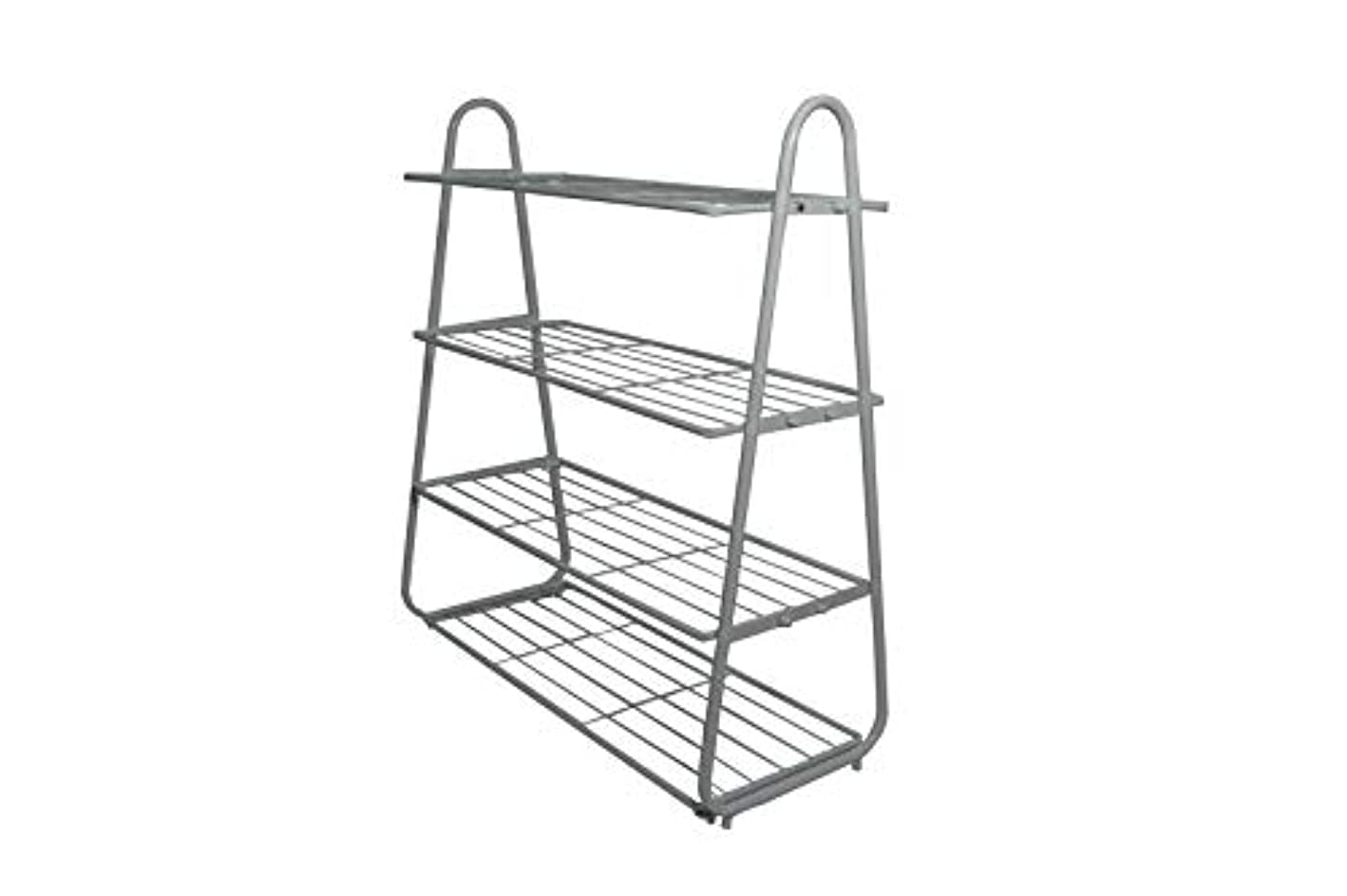 AXDT 4-Tier Shoe Rack Organizer Metal Shoes Storage Bench, Iron Shoes Shelf Cabinet for Entryway, Closet, Living Room, Bedroom