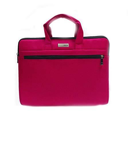 Laptopkoffer, laptoptas, dwarsdoorsnede, 36 × 27,5 × 5 cm, roze rood