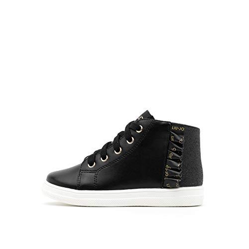 Sneakers da Bimba Liu Jo in Pelle Nude Modello 4F0319EX014-Mini Alicia 514 con Stringhe. Una Calzatura Comoda per Un Look Sempre impeccabile. Collezione Autunno Inverno 2021. EU 25