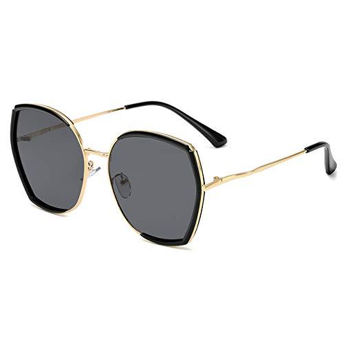 SXRAI Gafas de Sol Mujer Hombre Irregular Montura Grande Gafas Sunglass Gradient Shades Anteojos Uv400,C1