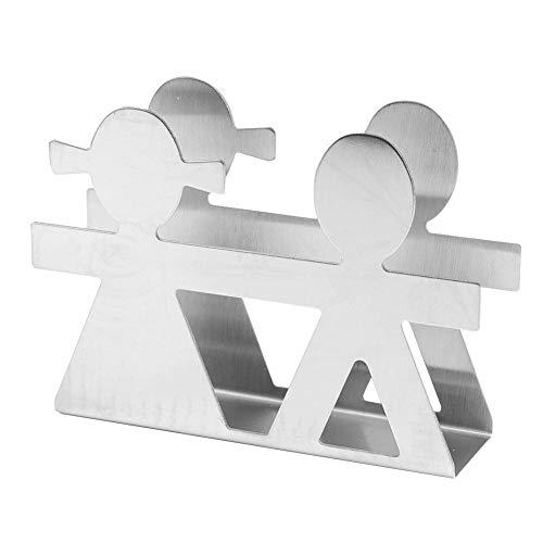 ToppinCN Serviettenhalter aus Edelstahl, moderner Serviettenhalter, Tischdekoration, Liebhaber-Stil