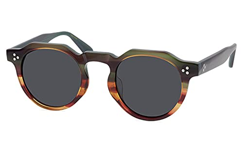 jwj Gafas de sol para hombre RetroSunglasses Mujer Llanta Completa Polarizada Gafas de sol (Lenses Color: Verde Marrón)