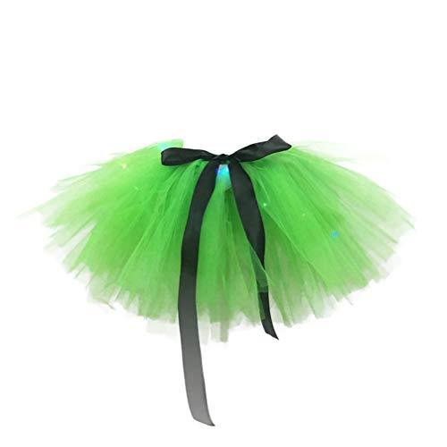 Amosfun S t. Patricks Day Tutu Falda Traje de trébol irlandés Disfraz Gasa Falda tutú para niños niñas Talla m