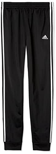 adidas Boys' Big Active Sports Athletic Tricot Jogger Pant, Iconic Black, M (10/12)