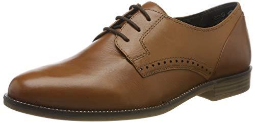 Tamaris 1-1-23201-23, Zapatos de Cordones Derby para Mujer, Marrón (Cognac 305), 39 EU