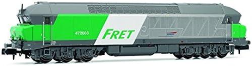 Arnold HN2385 Diesellokomotive CC 72000 der SNCF,Fret, Epoche V Modellbahn, Grau Grün