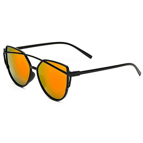 YTYASO Gafas de Sol de Ojo de Gato Moda para Mujer Gafas de Sol con Espejo Dorado Gafas de Sol para MujerUV400