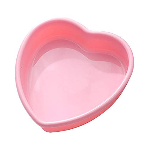 Heart Mousse Cake Mold Trays  Silicone Madeleine Baking Pan Oven Safe and Not Sticky Mould, Diy Baking Soap Ice jelly dessert Tools   Chocolate Molds for Valentine(pink, 9 inch)