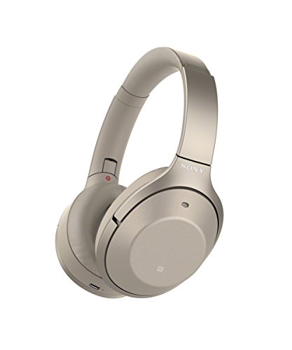 Sony WH-1000XM2 Cuffie Over-Ear Bluetooth, Noise Cancelling, Gesture Control, Durata batteria 30 ore, Crema