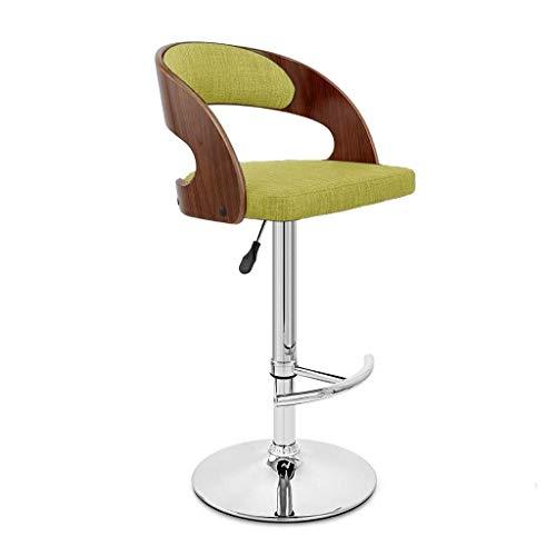WWWWW-DENG barkruk hoge stoel met rugleuning bureaustoel met rugleuning barkruk verstelbare bureaustoel met groene ondersteuning barkruk