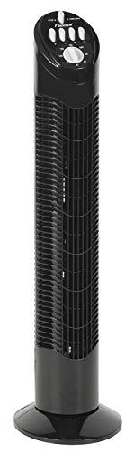 Bestron torenventilator met zwenkfunctie zwart