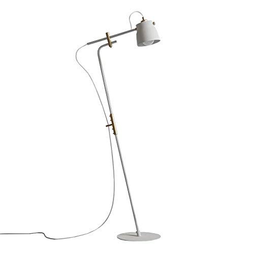YASE-king Stand Up Lámpara Inicio piso Light- Lámpara de estilo americano de industria creativa Dormitorio Sala de Estudio Sala de Hierro forjado telescópica vertical Lámpara de pie Gama de iluminació