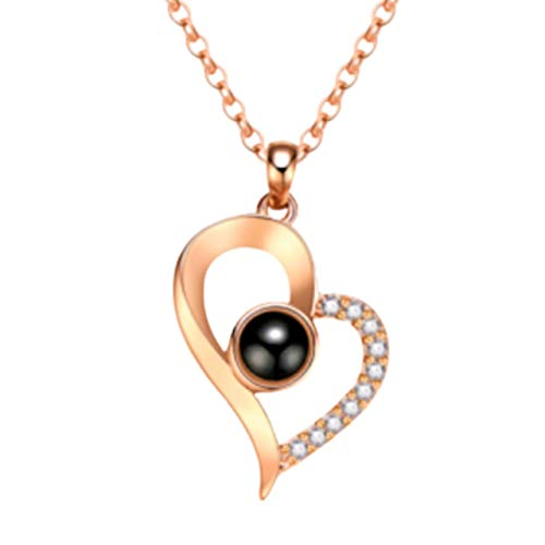 YunTify I Love You Necklace for Girlfriend