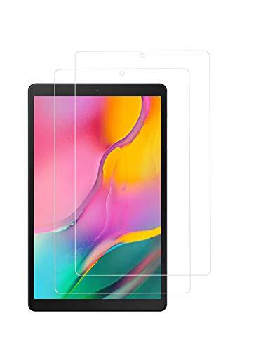 TECHKUN[2 Stück Panzerglas Schutzfolie Kompatibel mit Samsung Galaxy Tab A 10.1 (2019) T510 & T515,Schutzfolie für Samsung Galaxy Tab A T510/T515 [10,1 Zoll]