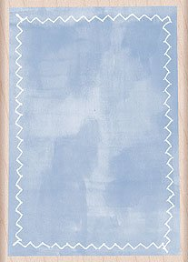Stitched Rectangle Background Wood Mounted Rubber Stamp (H4154) Background Mounted Rubber Stamp