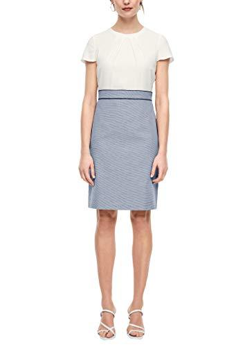 s.Oliver BLACK LABEL Damen Fabricmix-Kleid für das Office Dark Blue panneau 40