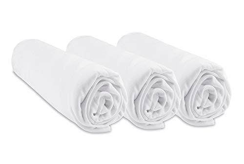Drap housse viscose Bambou - 90x140 - Blanc